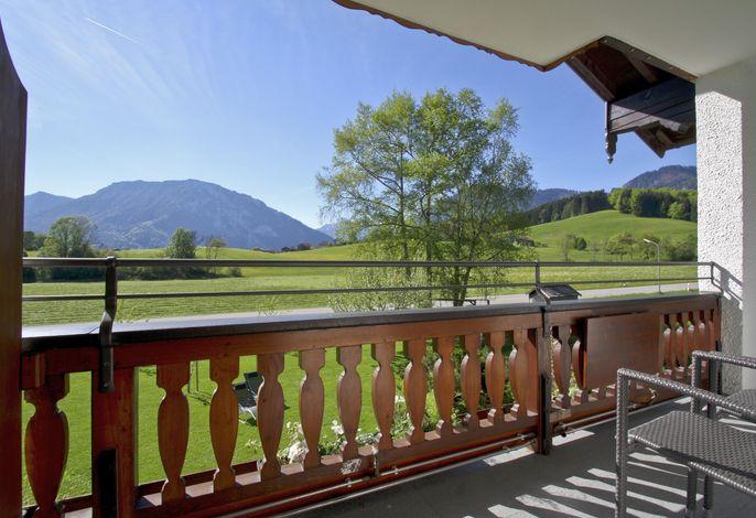 Blick vom Balkon - freie und unverbaute Aussicht