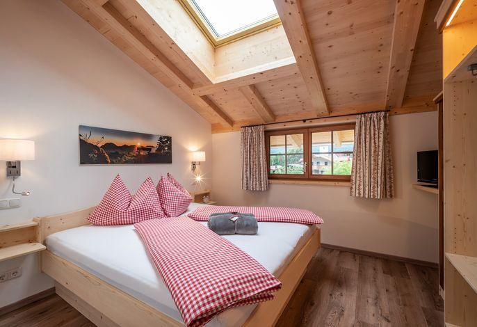 Schlafzimmer in der Feriewohnung Wilder Kaiser