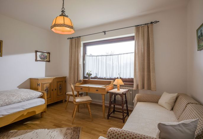 Einbettzimmer mit Schlafsofa