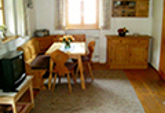 Fewo 48qm Wohnzimmer mit Eßecke