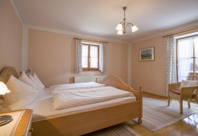 Eines der Schlafzimmer im Obergeschoss