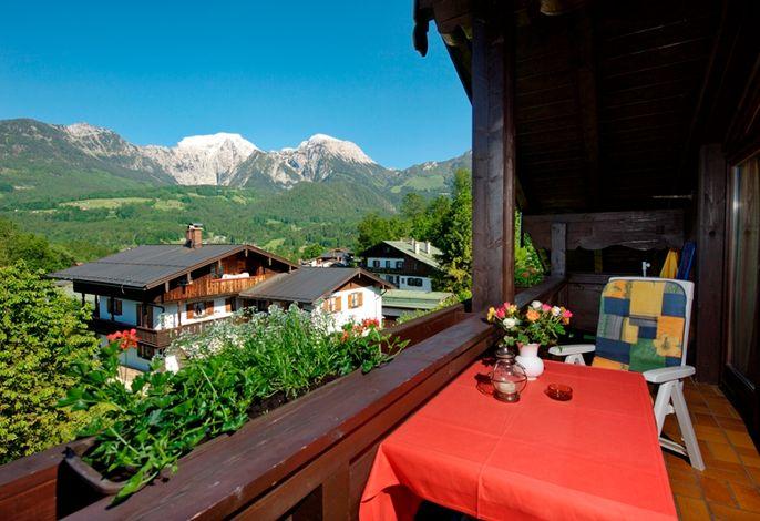 Balkon mit herrlicher Aussicht Ferienwohnung Hoher Göll Nr.6