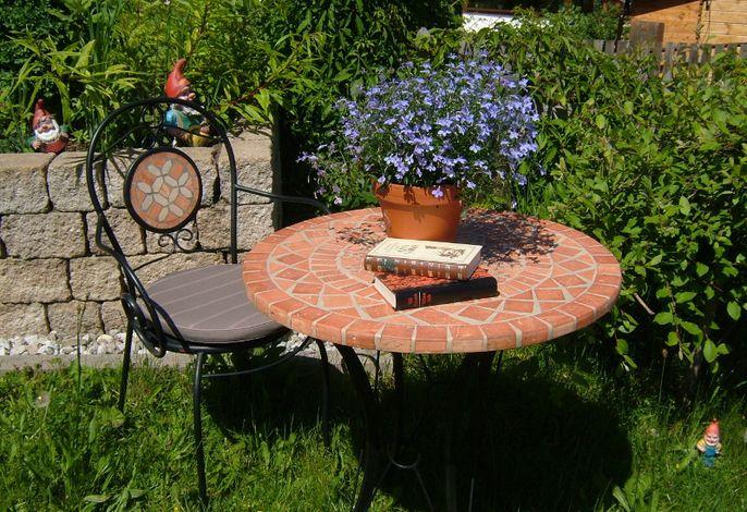 Unsere Leseecke im Garten