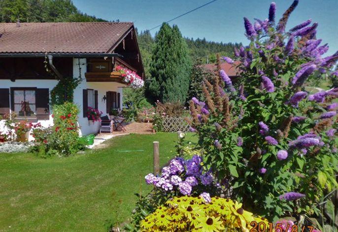 Haus Wimmer inmitten blühender Natur mit Weitsicht