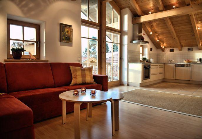Kombinierte Küchenzeile mit Wohnraum Ferienwohnung Schenk
