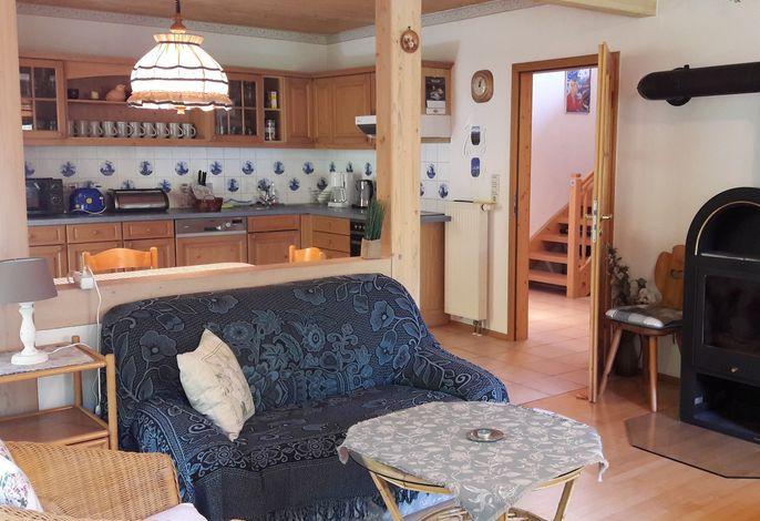 Wohnküche mit Schwedenofen