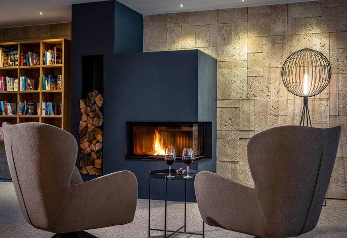 Landhaus Tanner Lounge mit Kamin