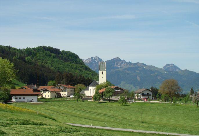 Rossholzen mit Blick auf Wendelstein und Breitenstein