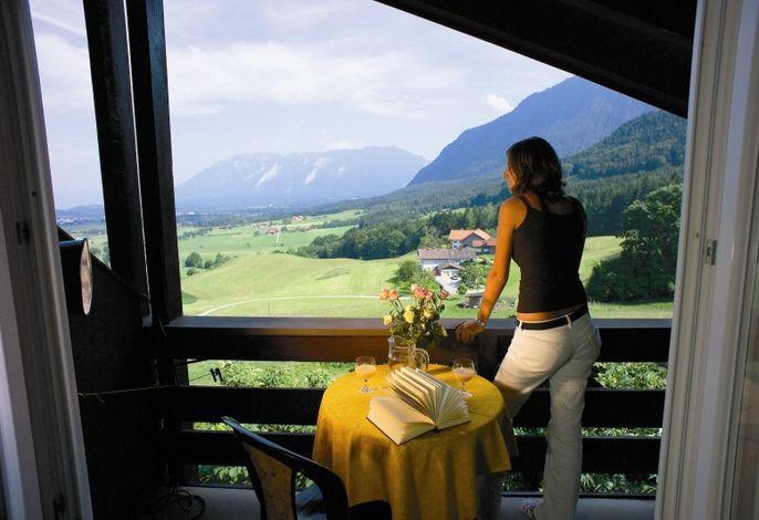 Balkonaussicht in die Berge