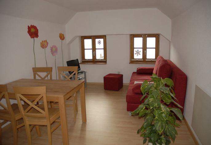 Wohnzimmer der Mühle zu Waching, Familie Dietrich