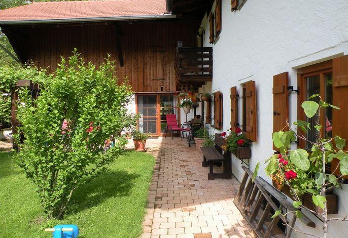 Perlgut - Terrasse der Ferienwohnung