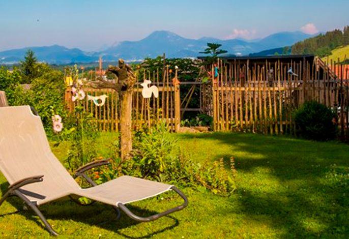 Garten mit atemberaubender Aussicht