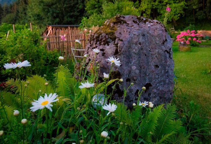 Garten mit vielen interessanten Details