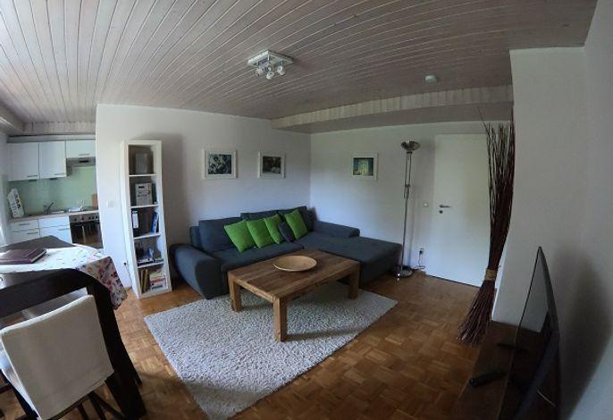 Wohnzimmer mit gemütlichen Sofa