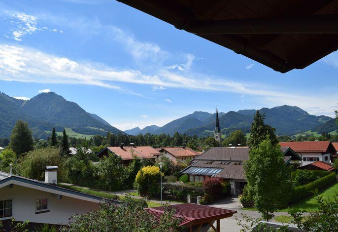 Ausblick nach Westen vom Balkon