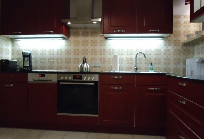 moderne Küche mit Geschirrspüler und Elektroherd