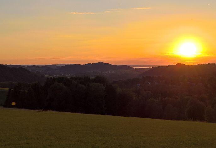 Sonnenuntergang am Riedl