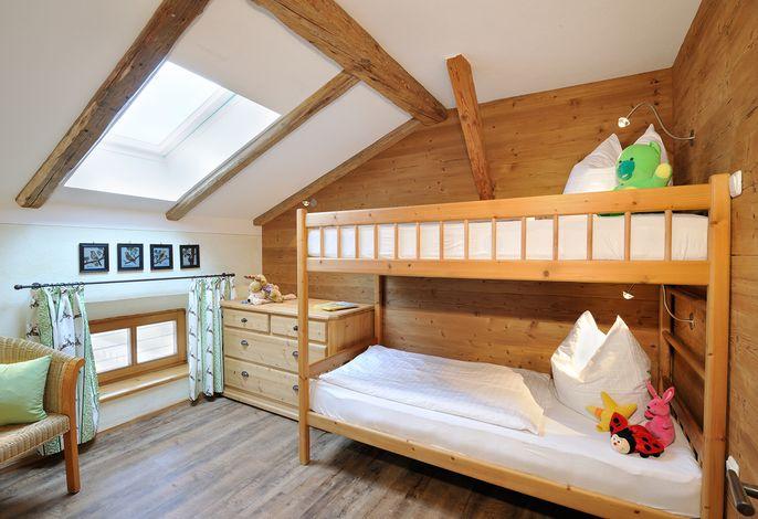 5 Sterne Ferienwohnung Schaf, Kinderzimmer mit Stockbett, Ferienwohnung