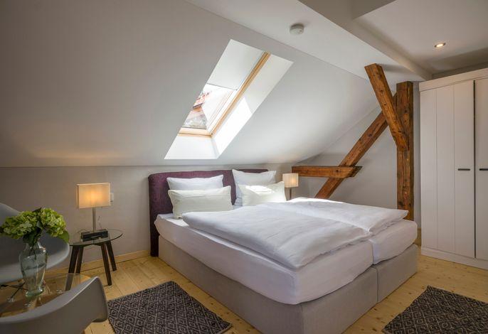 Schlafzimmer in der Ferienwohnung Villa Kaiser