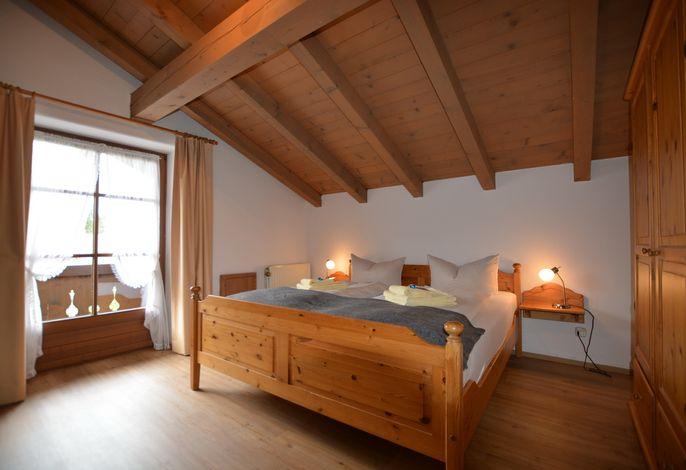 Unser Schlafzimmer mit Balkon