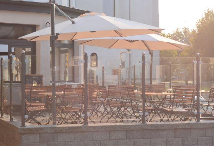Biergarten / Terrasse des Genusswerk Krug