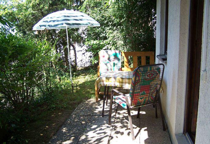 Ferienwohnung Unterschütz Terrasse