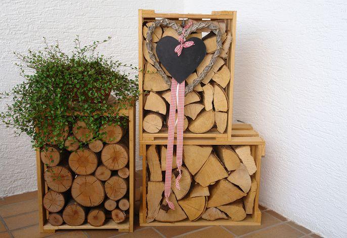 Ein Bisschen Holz vor der Hütte schadet nie !