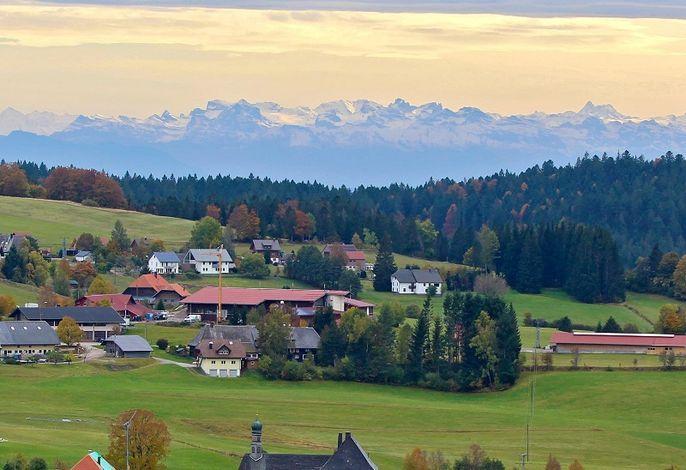 Alpensicht im Herbst