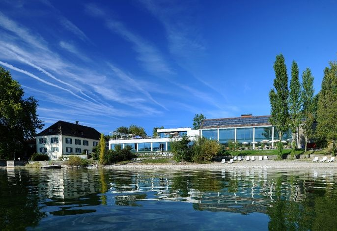 Blick auf das Haus Insel Reichenau