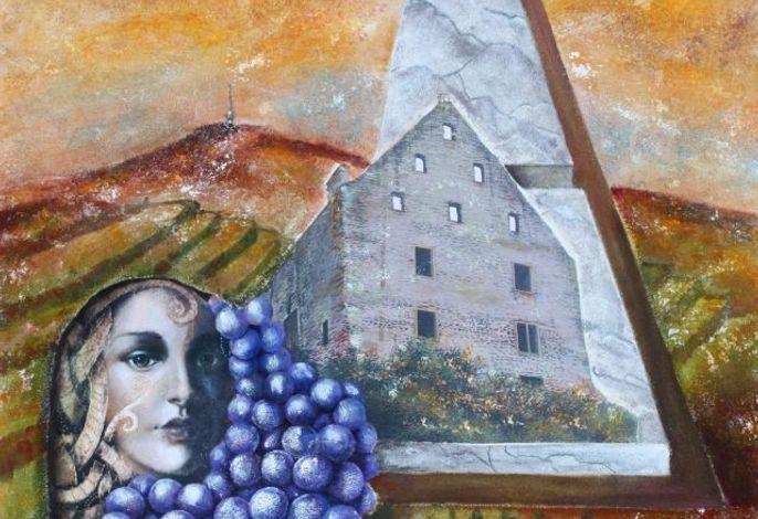 Titelbild Wein und mehr gemalt von Angelique Eckstein