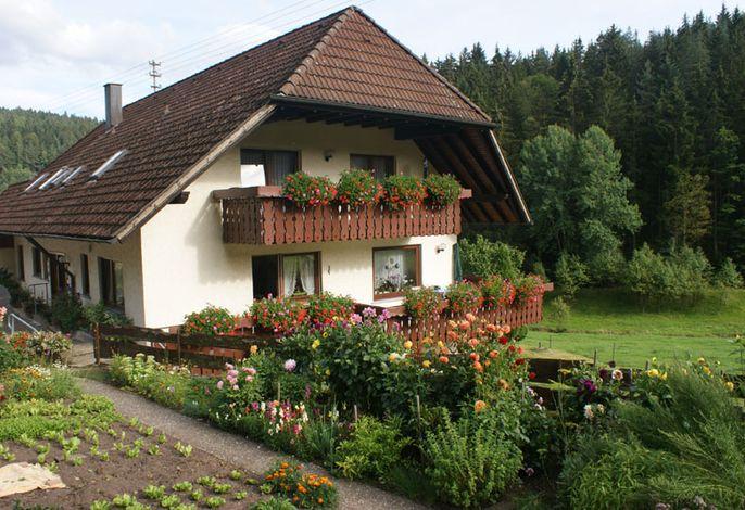 Hausansicht mit Bauerngarten