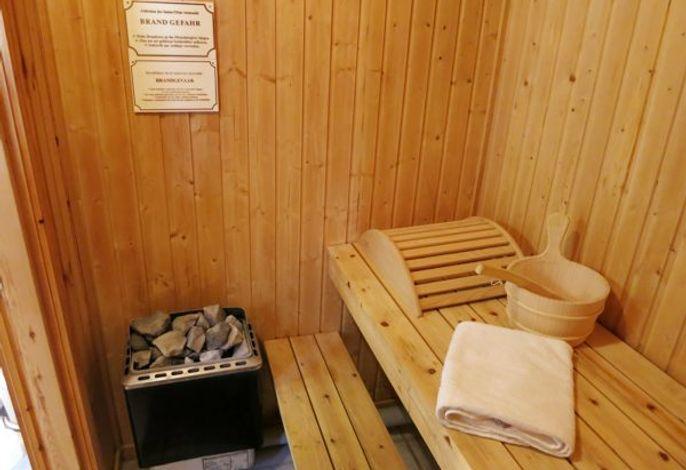 Sauna (hat jedes Haus)