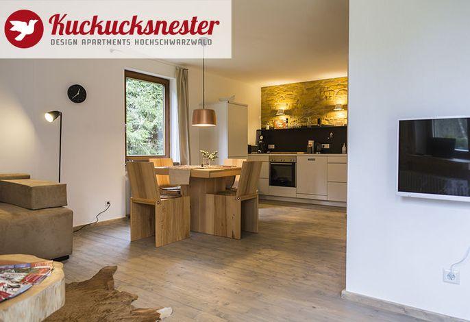 Wohnzimmer mit Küche Wohnung Nr. 8