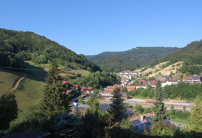 Schöne Aussicht auf den Ort Bad Griesbach