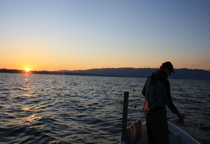 Sonnenaufgang beim Fischen