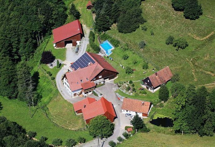 Blick auf den Ferienhof Huber aus der Luft