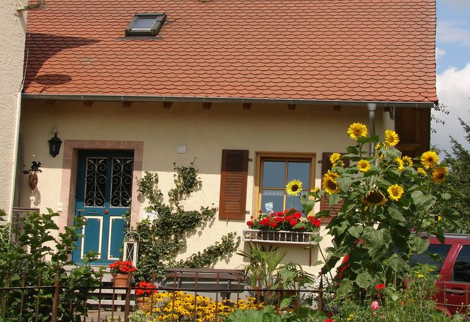 unser Ferienhaus mit schönem Bauerngarten