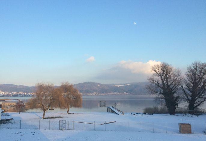 Aussicht Balkon, Winter