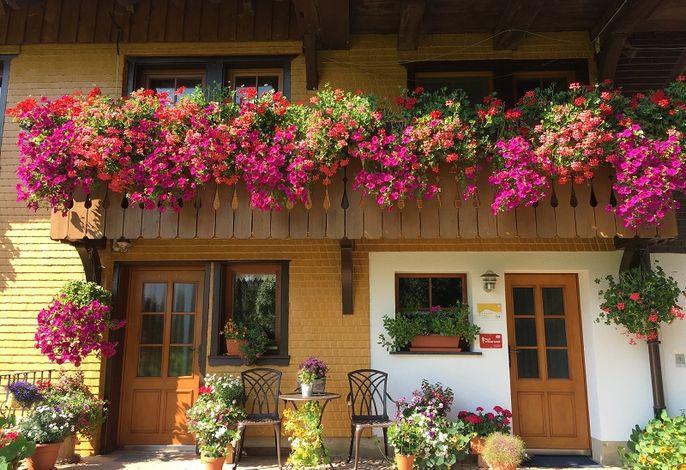 Balkon der Ferienwohnung  Im Heustock