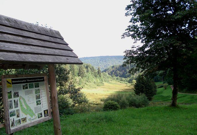 Naturschutzgebiet-Infotafel