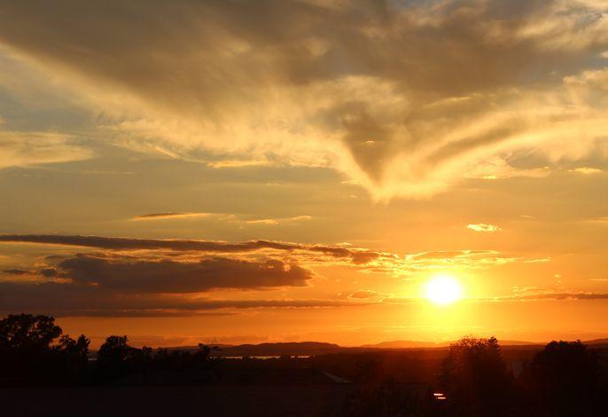 Sonnenuntergang Blick von der Antoniuskapelle