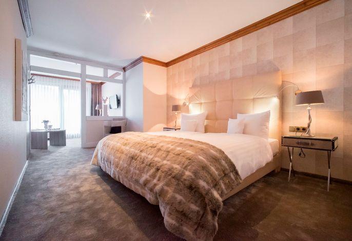 Komfort-Doppelzimmer mit Balkon, modernes Bad
