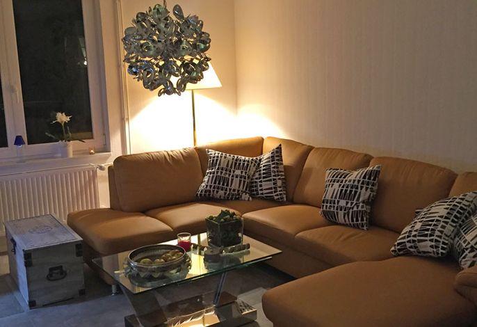 Wohnzimmer - Ledercouch
