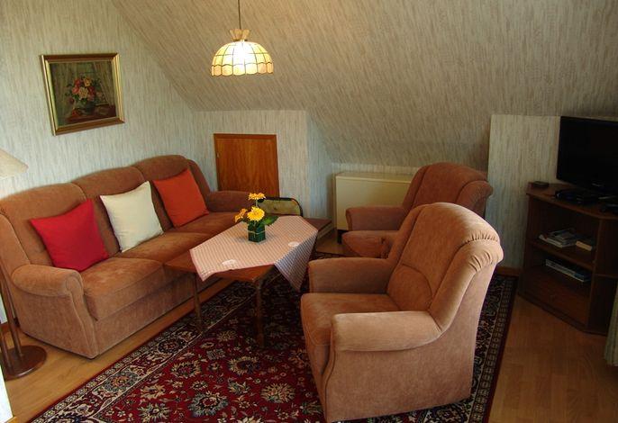 Wohnraum mit Westbalkon