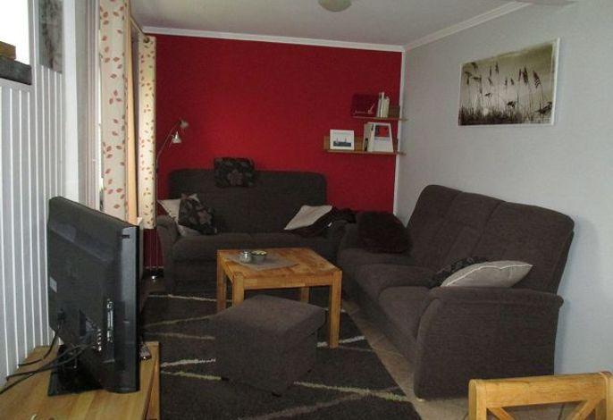 Wohnzimmer Polstersitzecke mit TV