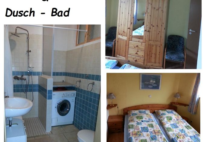 Schlafzimmer - Bad  Ferienwohnung Caspersen, Viöl-Hoxtrup