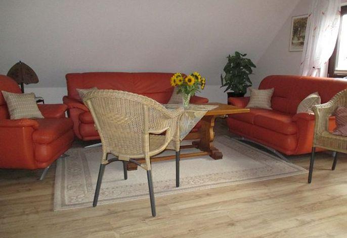 Wohnzimmer-Sitzecke, Ferienwohng. Karin Malligsen