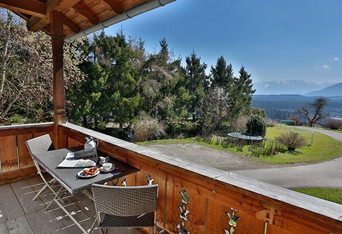 Ferienwohnung Weidenbaum Balkon