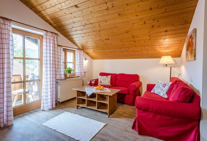 Rosenblüte Wohnzimmer