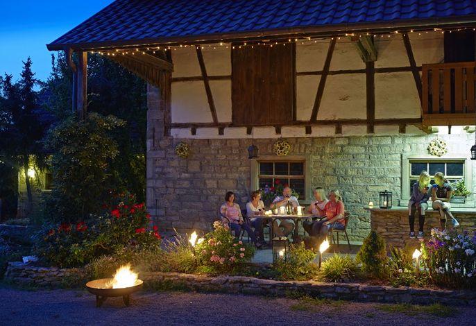 Abendidylle auf dem Hof